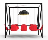 Red Swing Table