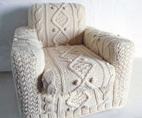 Cable Knit Armchair Slipcover