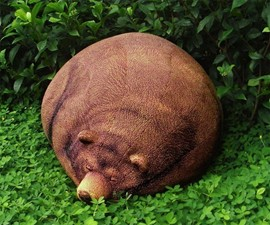 Big Sleeping Grizzly Bear Bean Bag