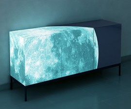 Glowing Full Moon Cabinet