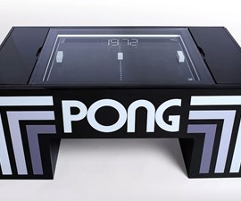Playable PONG Coffee Table