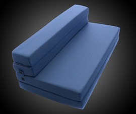 Tri-Fold Foam Folding Mattress & Sofa Bed