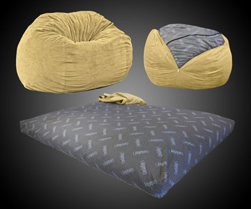 Peachy Convertible Bean Bag Chair Bed Dudeiwantthat Com Alphanode Cool Chair Designs And Ideas Alphanodeonline