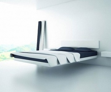 Fluttua floating bed for Magnetic floating couch