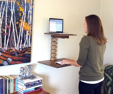 Wall Mounted Standing Desk Dudeiwantthat Com