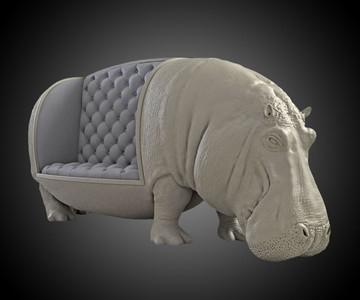 Hippopotamus Sofa