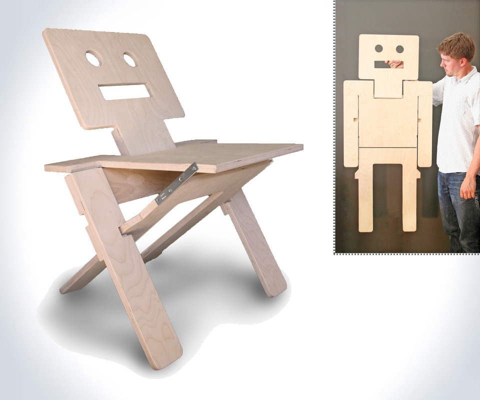 RoboChair Folding Chair amp Wall Art DudeIWantThatcom