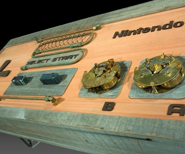 Steampunk Nintendo Controller Coffee Table DudeIWantThatcom