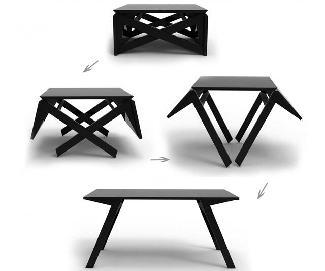 Transforming Coffee Table DudeIWantThatcom