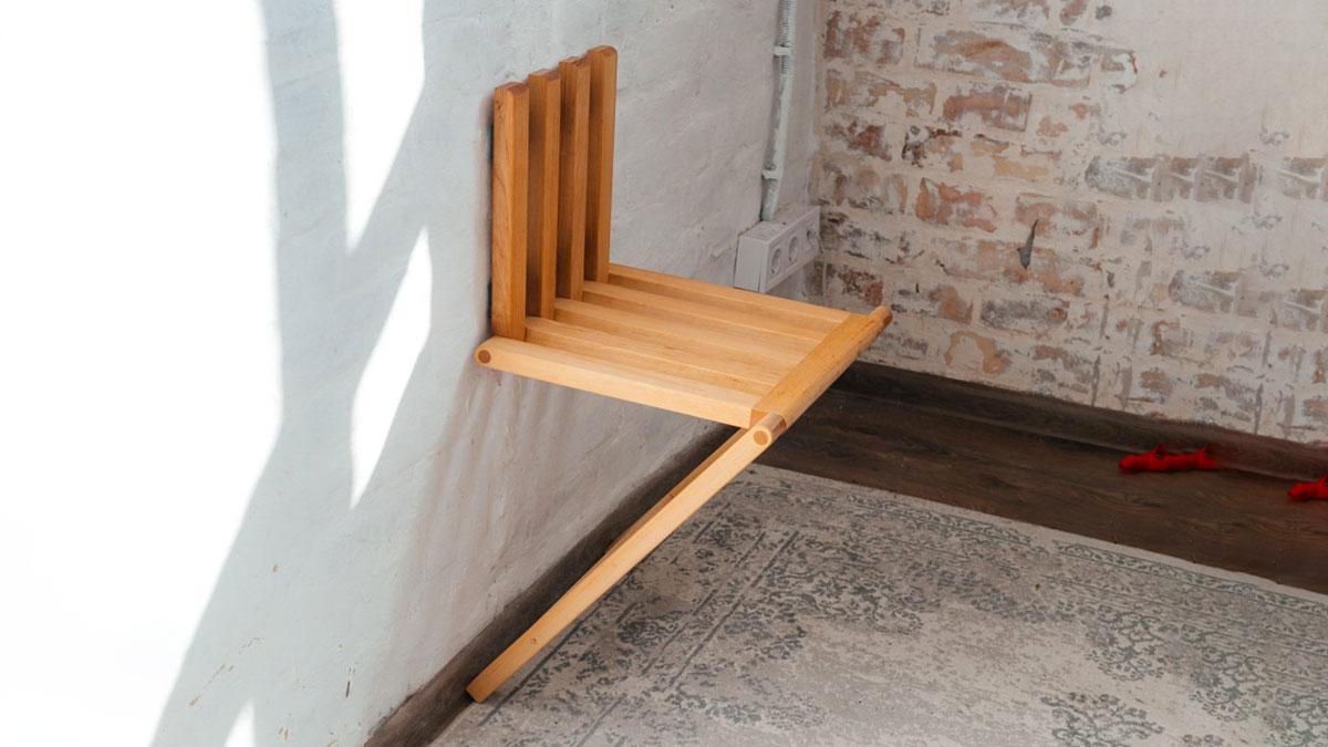 Wall-Mounted Folding Chair