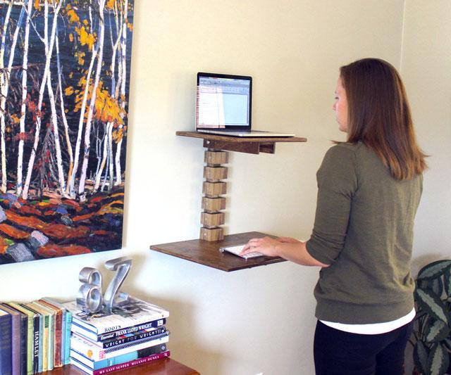 Standing Desks Executive Stand Up Desk: Wall-Mounted Standing Desk