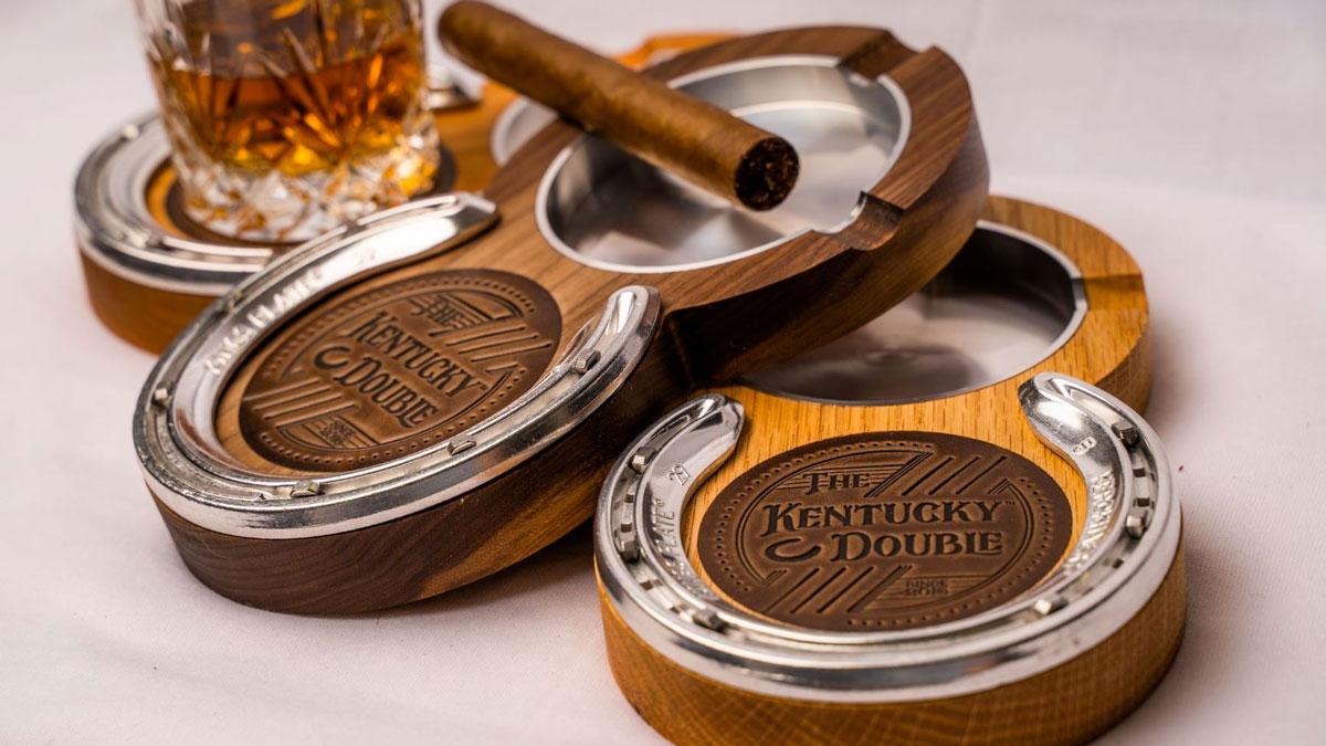 Kentucky Double Cigar Ashtray & Coaster