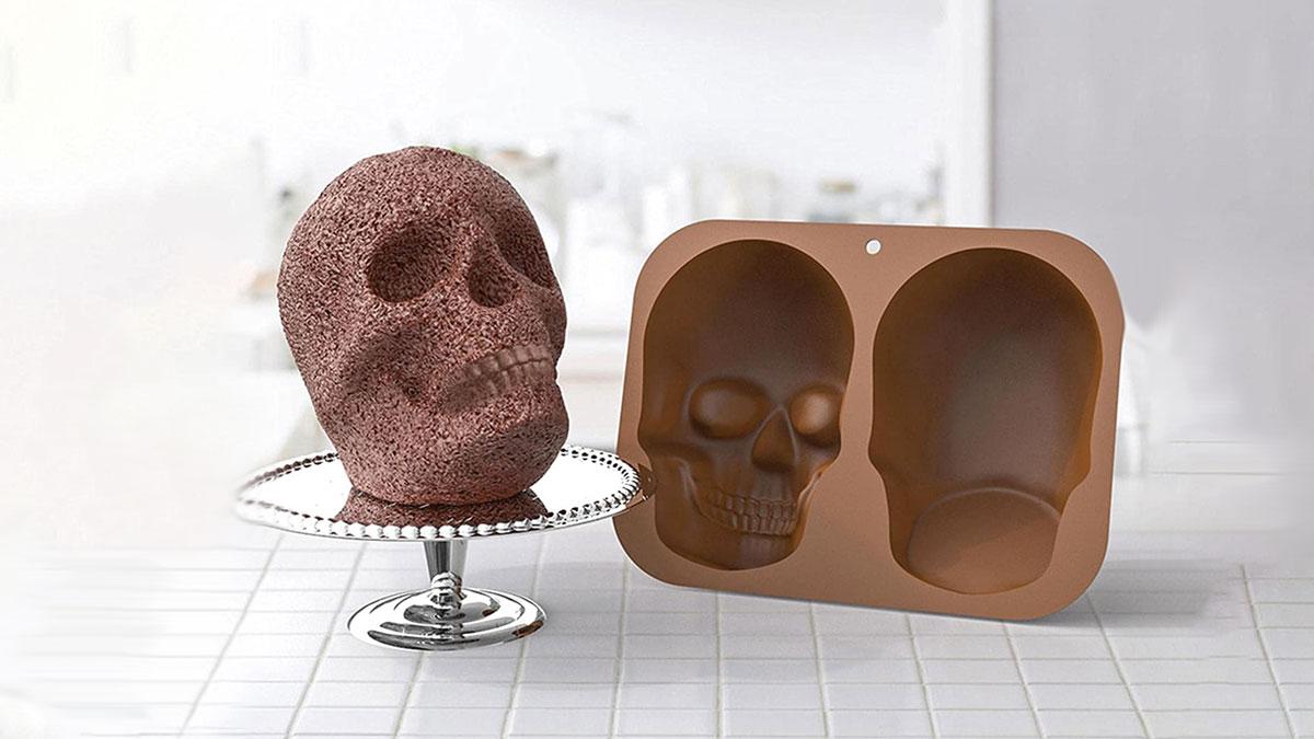 3D Skull Silicone Cake Mold