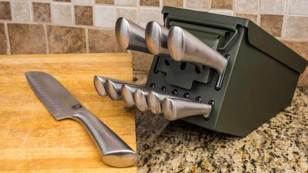 Ammo Can Knife Block