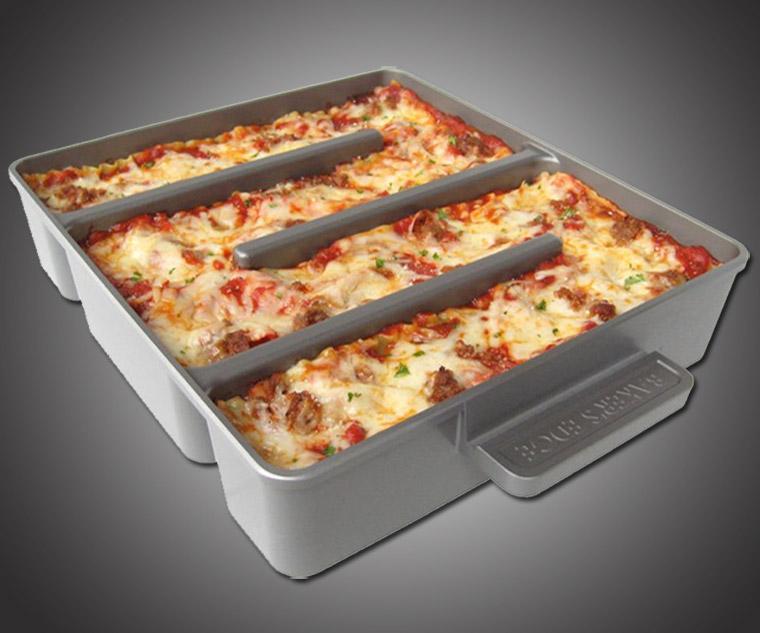Perfect Pieces Lasagna Pan Dudeiwantthat Com
