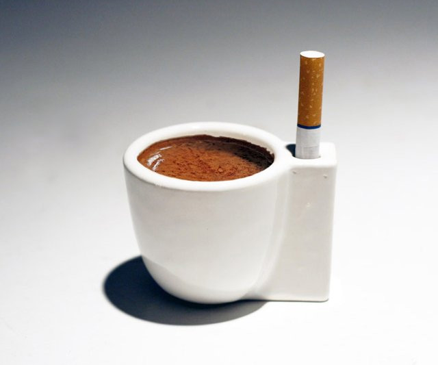 Coffee & a Smoke Cup | DudeIWantThat.com