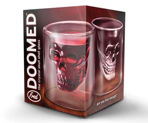 Doomed Skull Shot Glass Uk