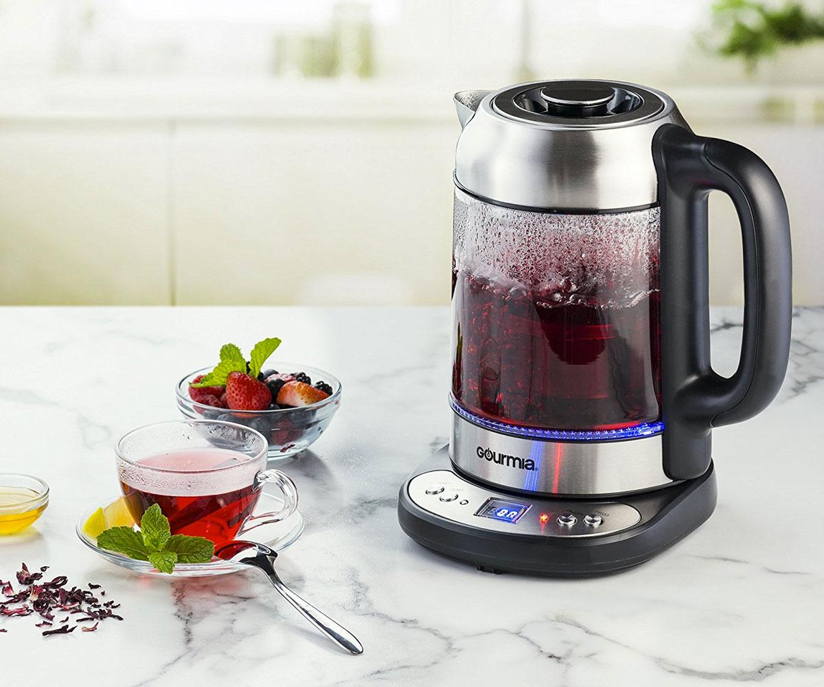 electric tea kettle with built in tea infuser. Black Bedroom Furniture Sets. Home Design Ideas