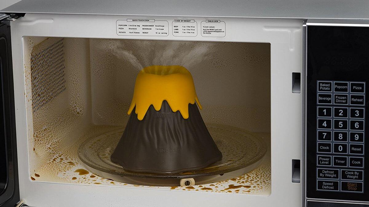 Eruption Disruption Volcano Microwave Cleaner