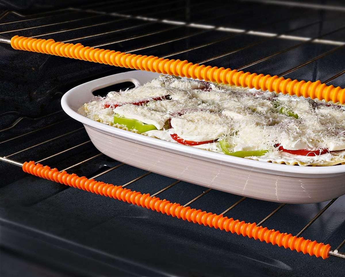 Countertop Oven Heat Shield : Heat-Resistant Oven Rack Guards DudeIWantThat.com