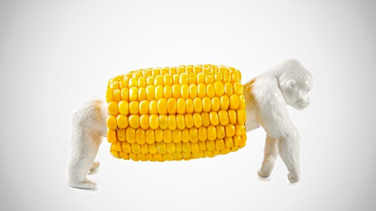 King Corn Porcelain Corn Holder