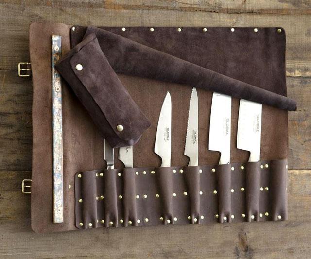leather knife rolls. Black Bedroom Furniture Sets. Home Design Ideas