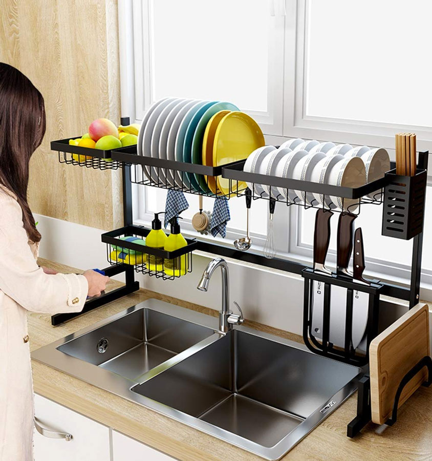 Over The Sink Dish Drying Rack Dudeiwantthat Com