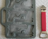 Handgun Ice Cube Tray - Scale View