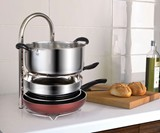 Height Adjustable Pot & Pan Organizer Rack