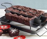 Kingrol Brownie Pan with Built-In Slicer & Rack