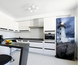 Lighthouse Fridge Skin Magnet Installed in Kitchen