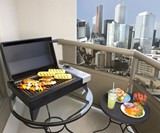 PowerChef Tabletop Grill on Patio