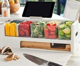 Prepdeck Meal Prep Kit with Storage & Cutting Board