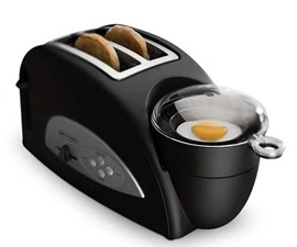Two Slice Toaster And Egg Poacher