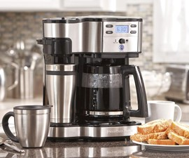 Single Serve & Full Pot Coffee Maker