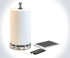 TowlHub USB Paper Towel Holder