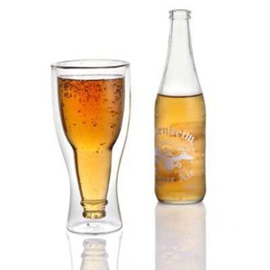 Hopside Down Beer Glass