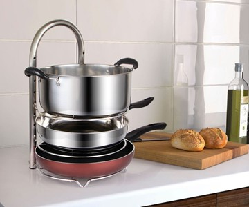 Height Adjustable Pot U0026 Pan Organizer Rack