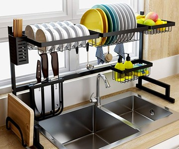 2d667784f8b5 Over-the-Sink Dish Drying Rack | DudeIWantThat.com