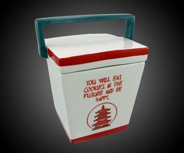 Chinese Takeout Box Cookie Jar