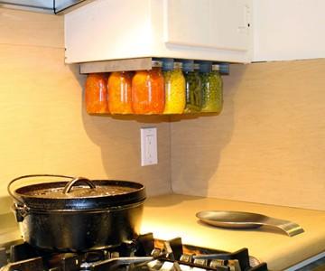 Mason Jar Storage Racks