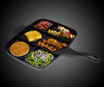 Non Stick Divided Grill Fry Oven Skillet Dudeiwantthat Com
