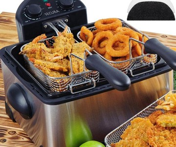 Triple-Basket Deep Fryer