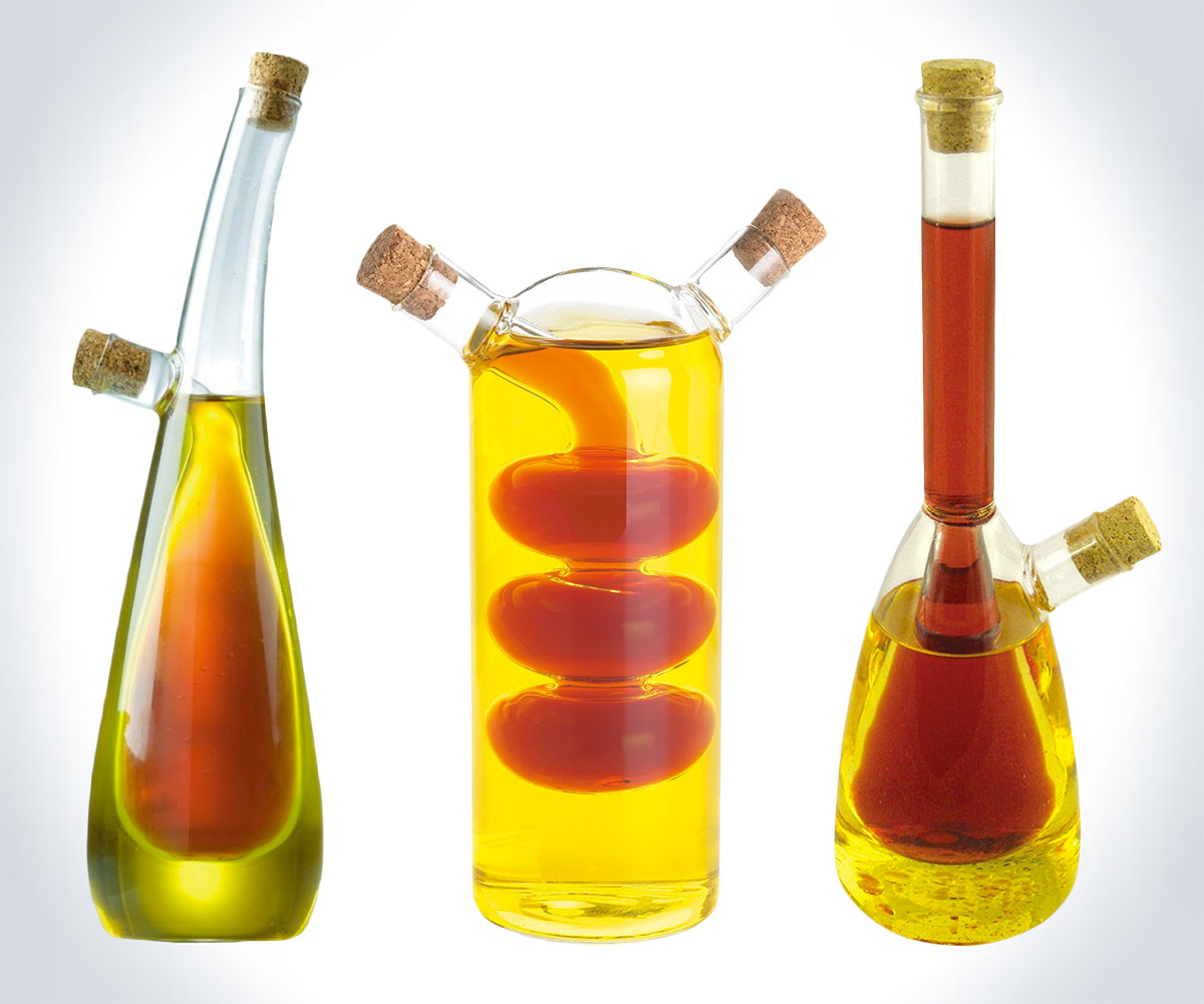 Science Lab Oil Vinegar Bottles