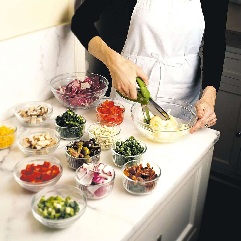 Trudeau Toss Amp Chop Salad Tongs Dudeiwantthat Com