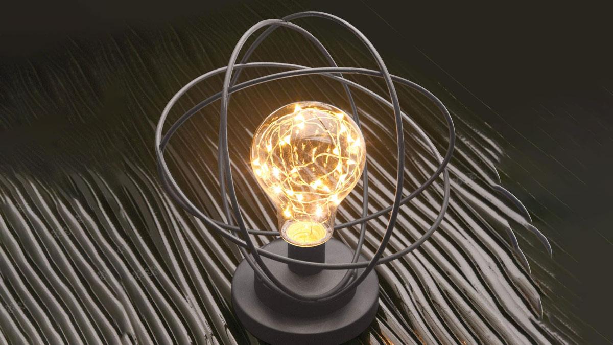 Atomic Age LED Metal Desk Lamp