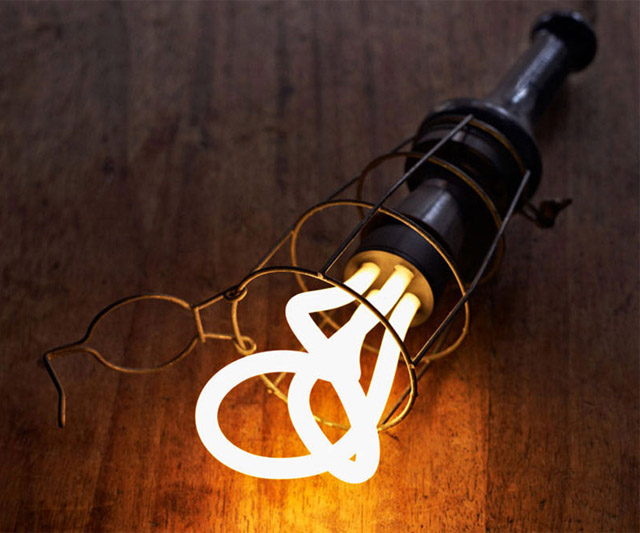 Designer Low Energy Light Bulb Closeup