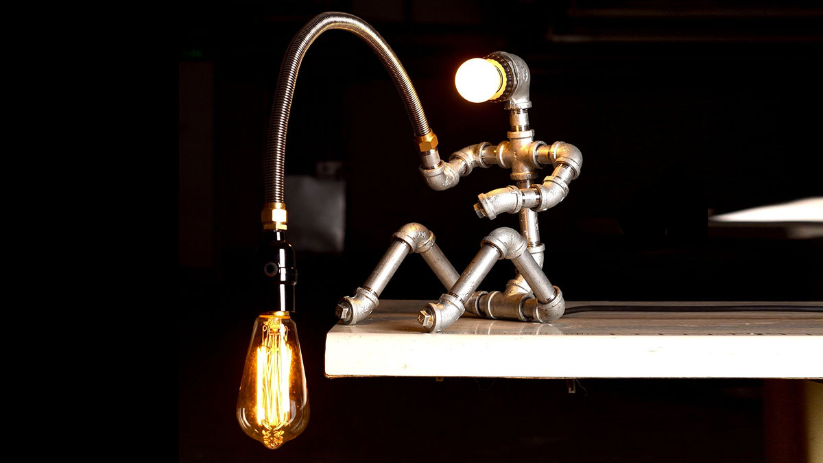 Fishing Man Table Lamp