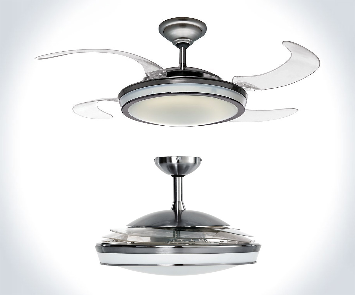Hunter Fan Retractable Blade Ceiling Fan | DudeIWantThat.com