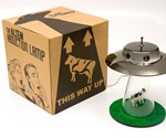 Alien Abduction Lamp and Packaging